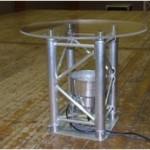 Table en structure aluminium avec éclairage Led