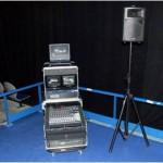 Ensemble vidéo pro et régie son compact, utilisation destinée à la location